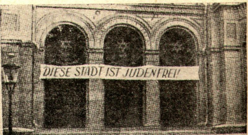 JUDENFREI this town is free of Jews