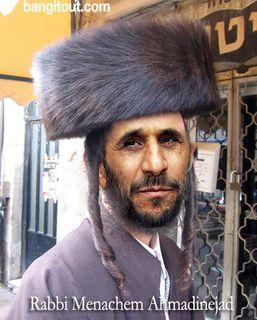 Ahmadinejad as rabbi