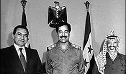 W mubarak and hussein