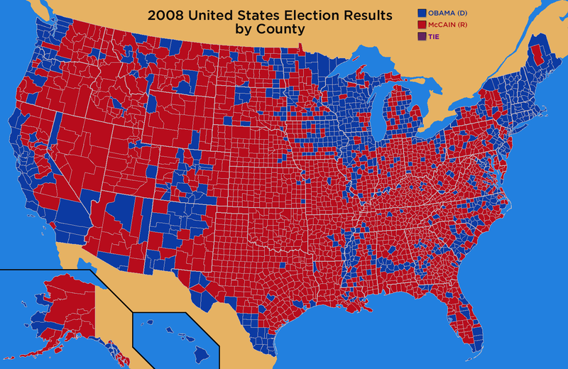 2008_General_Election_Results_by_County