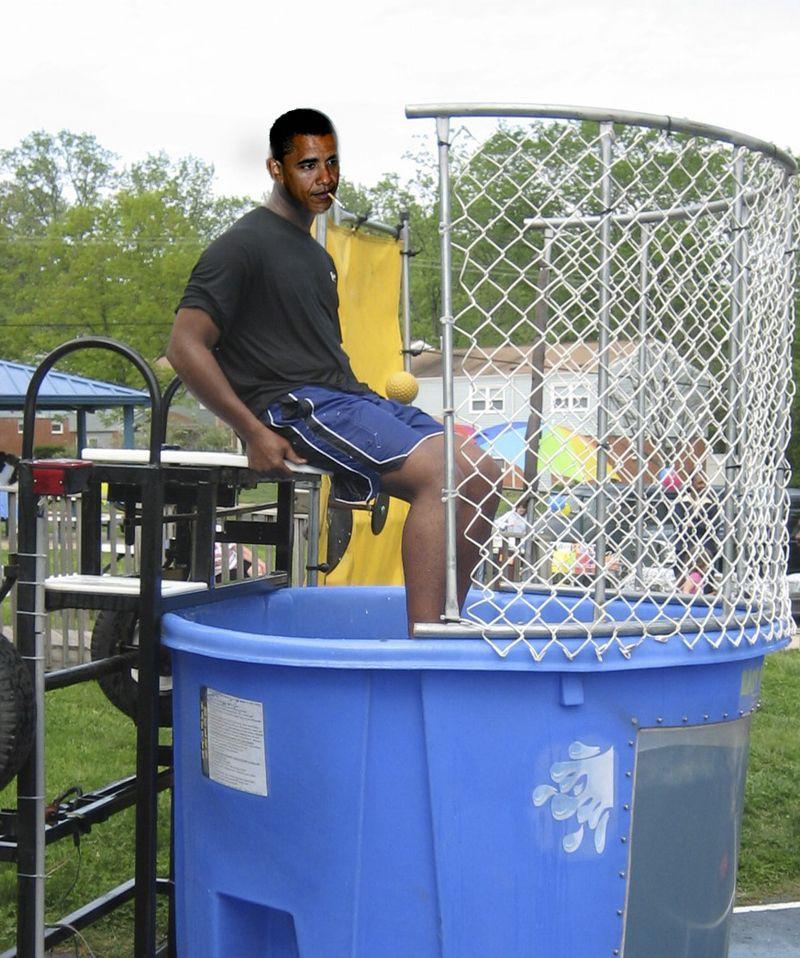 Obama replace dunk tank
