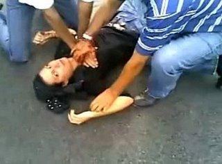 Iran protestor