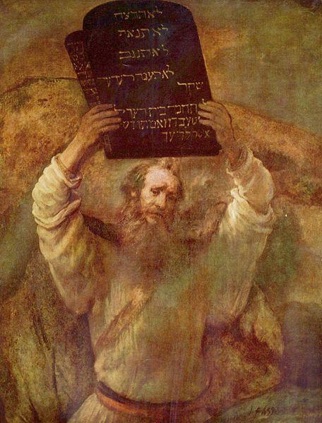 Moses tablets rembrandt