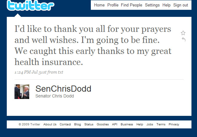 Dodds great health insurance 073109