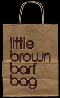 Little brown barf bag