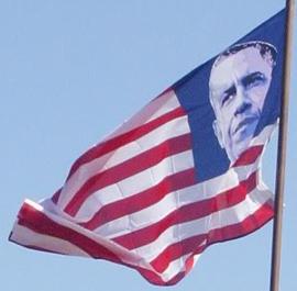 Face on flag