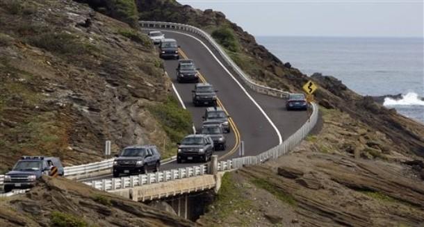 Motorcade hawaii 122909