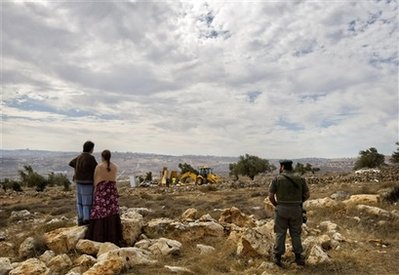 Settlers demolished