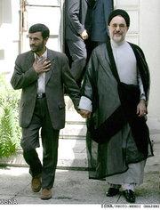 Ahmadinejad w khatami