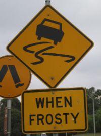 Slippery when frosty