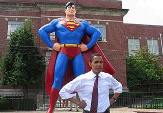 Obama w superman