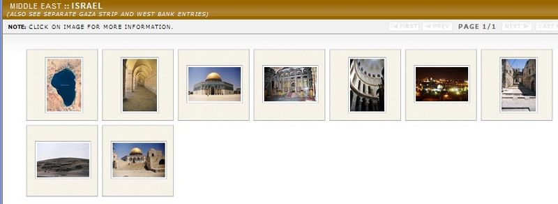 CIA factbook photos of Israel