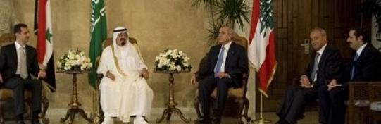 Assad saudiking lebpres lefpm in beirut 073010