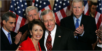 06 Nov stenyhoyer w pelosi n rahm in the back