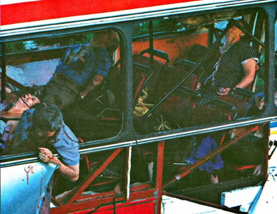 Bus Bombing by Activist