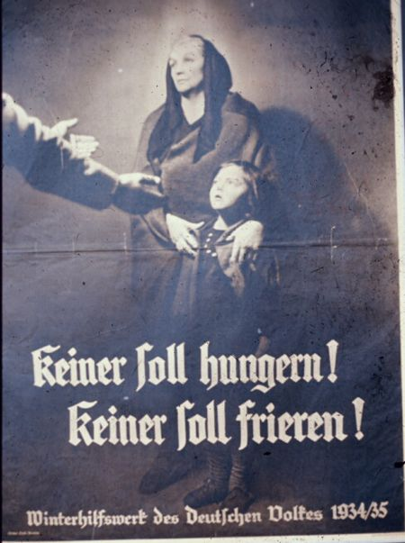 Nazi prop widows and orphans poster