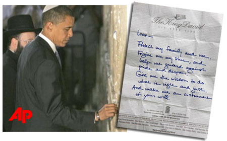 Obama and the note
