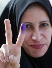IRAQ purple fingers