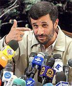 Ahmadinejad w microphones