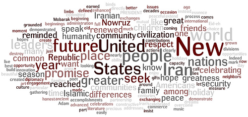 Word cloud nowruz speech 0309