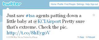TSA tweet