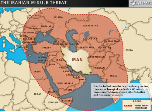 Iranian missile threat aipac map