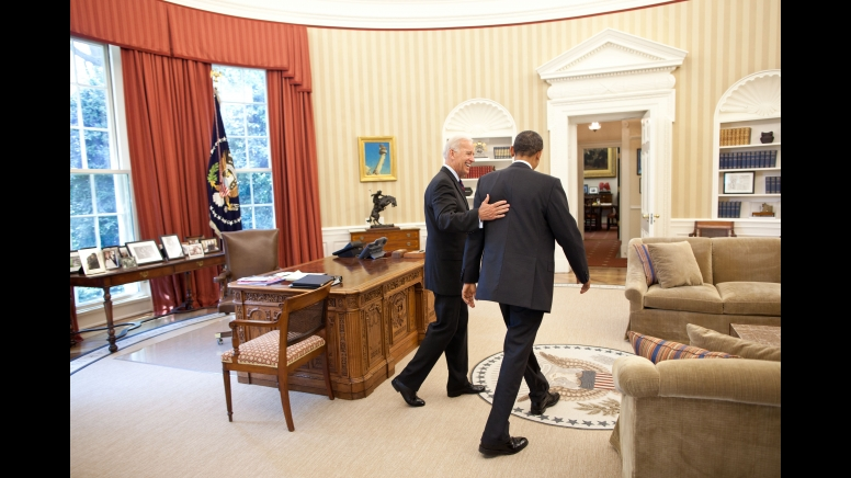 Escorted by biden