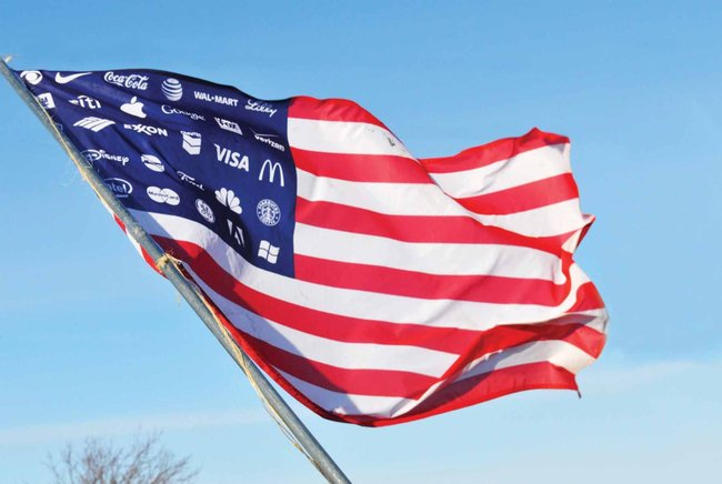 Adbusters corporate-american flag
