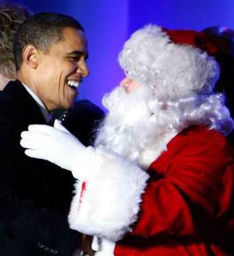 Santa-and-obama