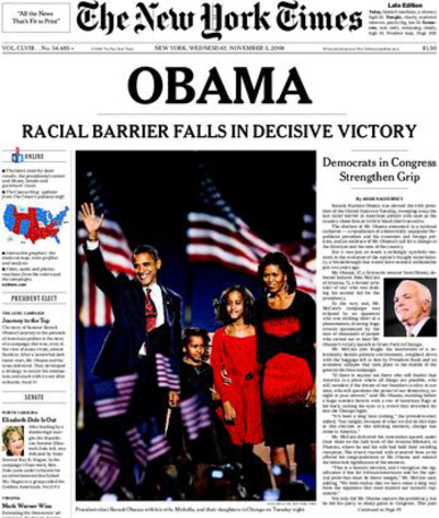 Nyt headline RACIAL BARRIER FALLS