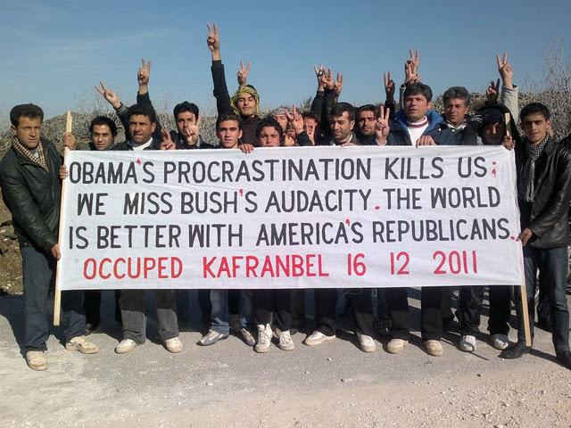 Obamathankyou from Kafranbel syria