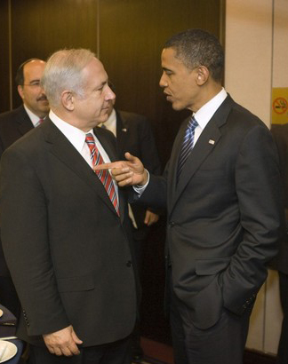 Obama lectures Netanyahu cropped