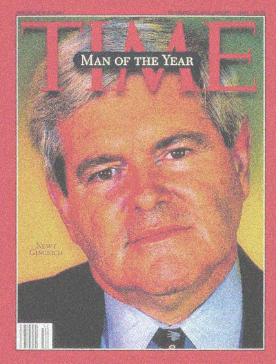 Newt man of the yr TIME 1995