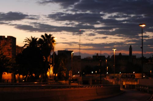Sunrise from the old city by shmuel zev moskowitz