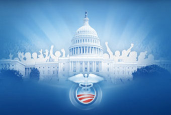 Obamacare logo w capitol