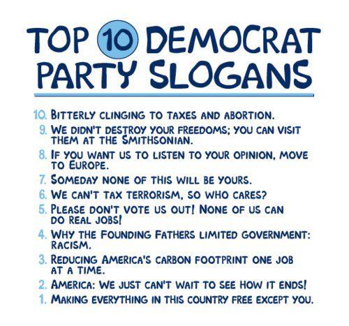 Democrat party slogans
