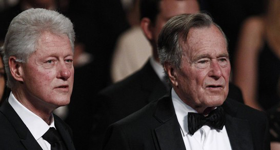 Bill clinton w geo hw bush 032111