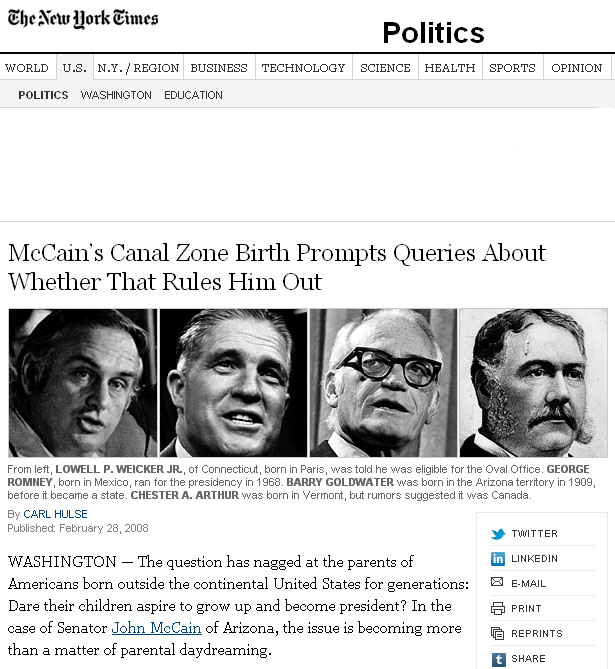 NYT McCain citizenship 022808