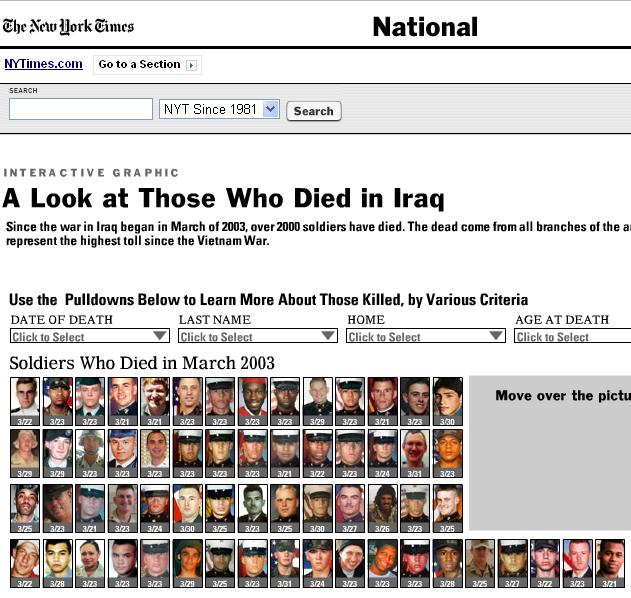 Nyt death toll iraq