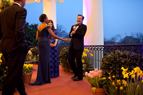 State dinner cameron flowers