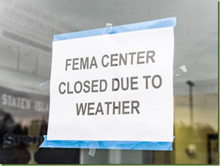 FEMA center closed