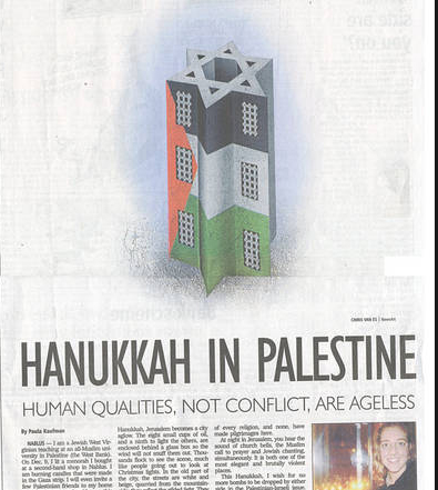 KAUFMAN hanukkah in palestine