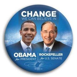 Obama w j rock button