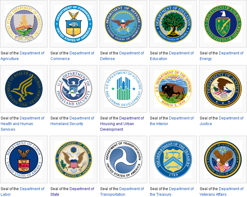 Us federal exec depts seals