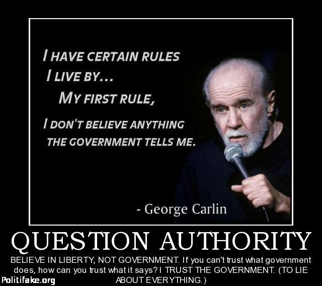 George carlin question authority