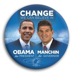 Manchin w obama button