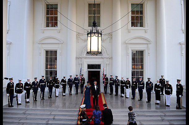 State dinner greeting cameron