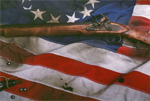 Flag w rifle