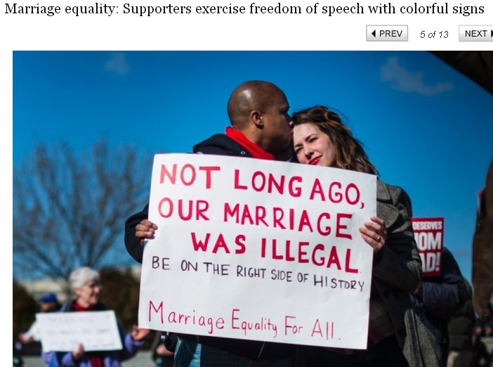 Marriage equality and race relations