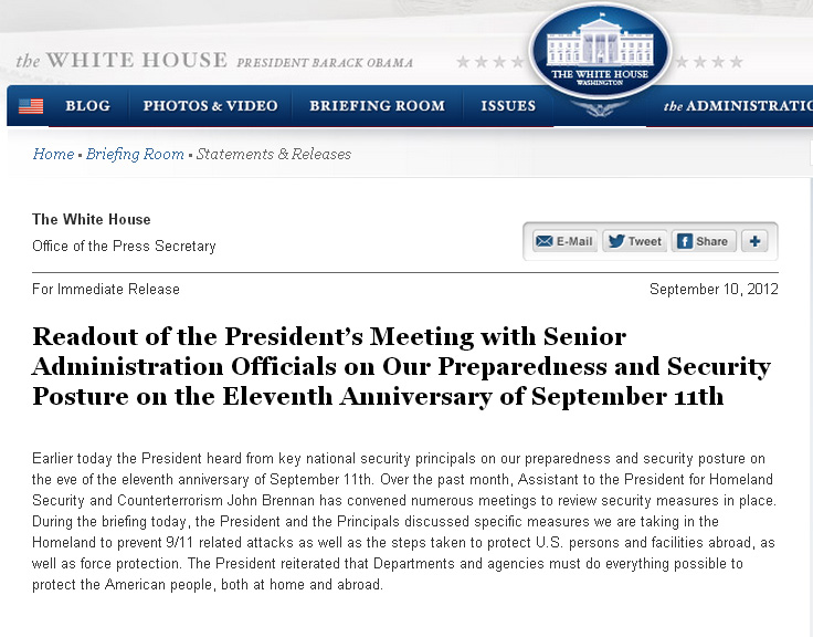 WH Readout 09102012